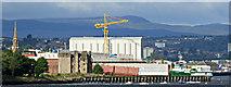 NS3274 : Newark Castle and Ferguson Marine shipyard, Port Glasgow by Thomas Nugent