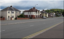 ST3090 : Houses on the east side of Malpas Road, Newport by Jaggery