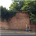 SP2865 : High brick boundary wall, Cape Road, Warwick by Robin Stott