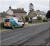 SO5819 : Alder Preece van, Walford Road, Walford by Jaggery