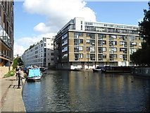 TQ3283 : Apartment blocks on the Regent's Canal by Wenlock Basin by Rod Allday