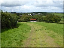 SX5594 : Bridleway to Southcott Cross from Yelland (3) by David Smith