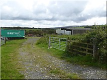 SX5595 : Farm buildings and store near Hilltown by David Smith
