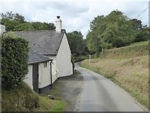 SX5599 : House and road junction at Millbrook by David Smith