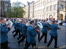 NT2573 : St. Ronan's Silver Band at Edinburgh Riding of the Marches by David Hawgood