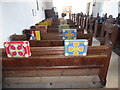 TG0602 : St Andrew & All Saints, Wicklewood: kneelers (a) by Basher Eyre