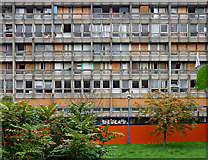 TQ3880 : A moribund Robin Hood Gardens, Cotton Street by Stephen Richards