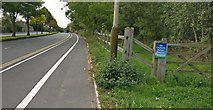 SK5605 : Entrance to the Orchards Nature Reserve by Mat Fascione