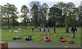 SP2864 : Women's fitness training, St Nicholas Park, Warwick by Robin Stott
