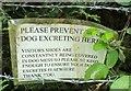 SX8869 : Notice, Milber Lane by Derek Harper
