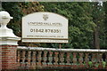 TL8194 : Lyndford Hall Hotel sign by Adrian Cable