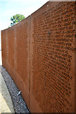 SK9869 : Wall of Names, International Bomber Command Centre by Julian P Guffogg