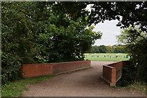 TQ2172 : Bridge Over Beverley Brook by Peter Trimming