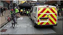 SE3033 : HSBC City Ride 2017, Leeds - safe passing exhibit by Stephen Craven