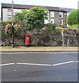 SS9992 : King George VI pillarbox, Dunraven Street, Tonypandy by Jaggery