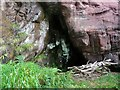 NS1750 : Hawking Craig Cave (The Holy Cave)  Hunterston by Raibeart MacAoidh