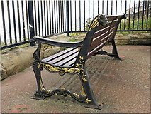 NZ3672 : Bench on Whitley Bay promenade by Mike Quinn