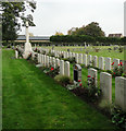TL4859 : Cross of Sacrifice in Cambridge cemetery by Adrian S Pye