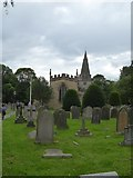 SK2572 : Baslow churchyard by David Smith