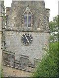 SK2572 : Baslow church clock by David Smith
