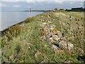 TQ6874 : The Saxon Shore Way near Shornmead Fort by Marathon