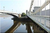 SH7877 : Three bridges spanning the Afon Conwy by Richard Hoare
