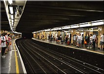 TQ3280 : Circle line, Cannon Street Underground Station by N Chadwick