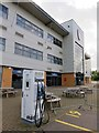 TL9928 : An electric vehicle charging point at the Colchester Community Stadium by Steve Daniels