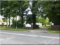 SK7964 : Caravan Park entrance by Bob Harvey