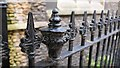 TL4458 : Church of St Bene't : Iron railings by Bob Harvey