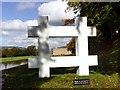 SK2669 : 'Barrier' framing Chatsworth House by Graham Hogg
