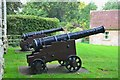 NT9239 : Cannons at Etal Castle by Jim Barton