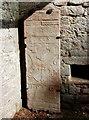NJ4724 : Grave slab, St Mary's kirk, Auchindoir by Bill Harrison