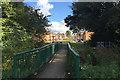 SP3682 : Footbridge from Bell Green across the Sowe to Wood End by Robin Stott
