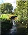 SP3682 : River Sowe by Bell Green and Wood End, north Coventry by Robin Stott