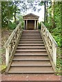 NS5320 : Steps leading to a wooden temple by Philip Halling