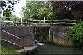 TL4712 : Stort Navigation: tail of Harlow Mill Lock by Christopher Hilton