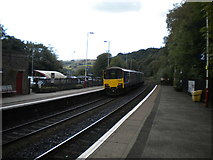 SD9324 : Manchester train leaving Todmorden station by Richard Vince