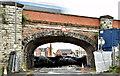 J3474 : Railway arch, Bridge End, Belfast (October 2017) by Albert Bridge