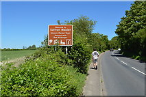 TL5337 : Entering Saffron Walden, B1052 by N Chadwick
