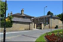 TL5337 : Old Saffron Walden Hospital entrance by N Chadwick