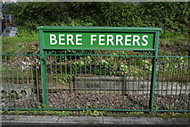 SX4563 : Bere Ferrers Station Sign by N Chadwick