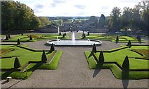 NZ0516 : The parterre at Bowes Museum by Russel Wills