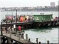 TQ8883 : Buildings on Southend Pier by Steve Daniels
