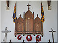 TF8804 : Ashill War Memorial with battlefield crosses by Adrian S Pye