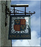 TG0243 : Sign for the Kings Arms, Blakeney by JThomas