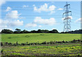 SE4489 : Electricity transmission pylon and its shadow by Trevor Littlewood