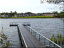 N6796 : Fishing stage on Bailieborough Lough by Oliver Dixon