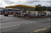 SS9993 : Shell filling station, Llwynypia by Jaggery