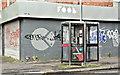 J3372 : Telephone boxes, Carmel Street, Belfast (October 2017) by Albert Bridge
